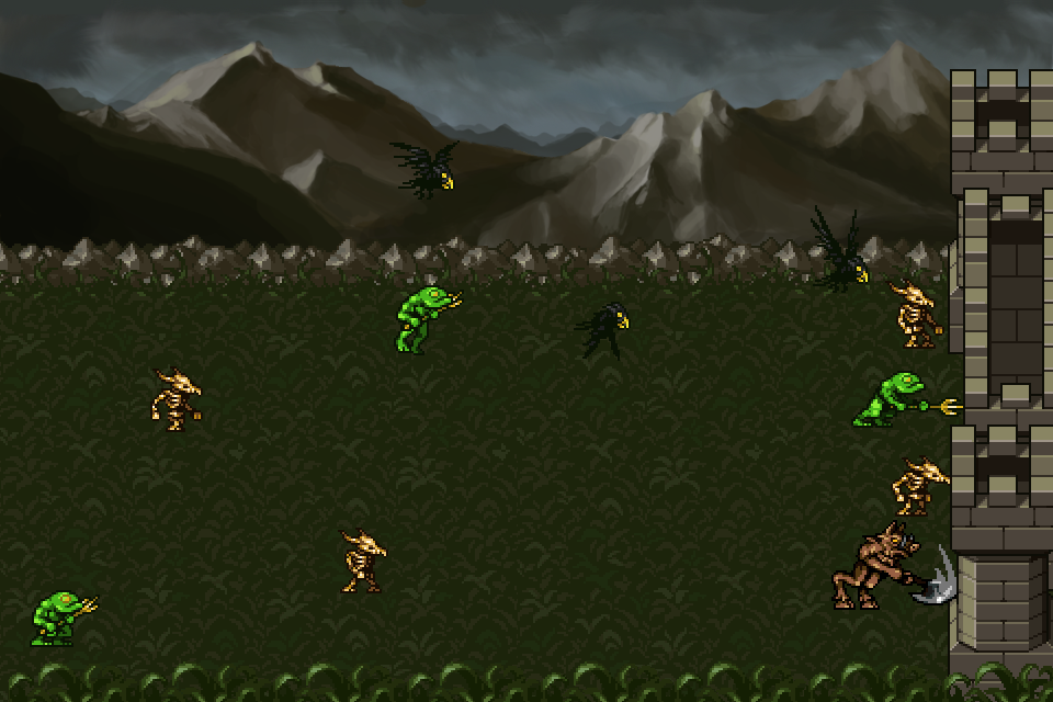 Tower Defense Prototyping Assets 4 Monsters Some Tiles