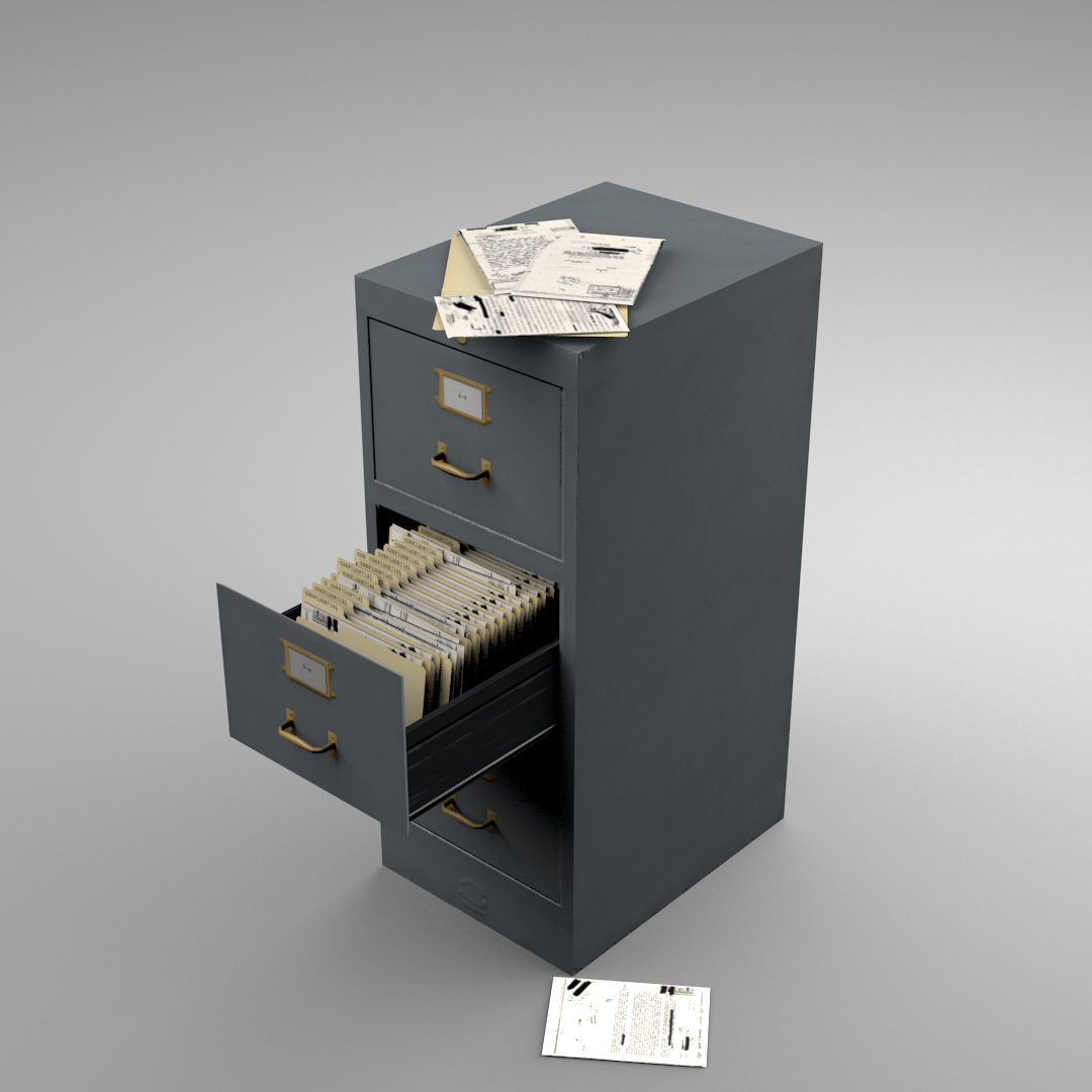 Metal File Cabinet Opengameart Org