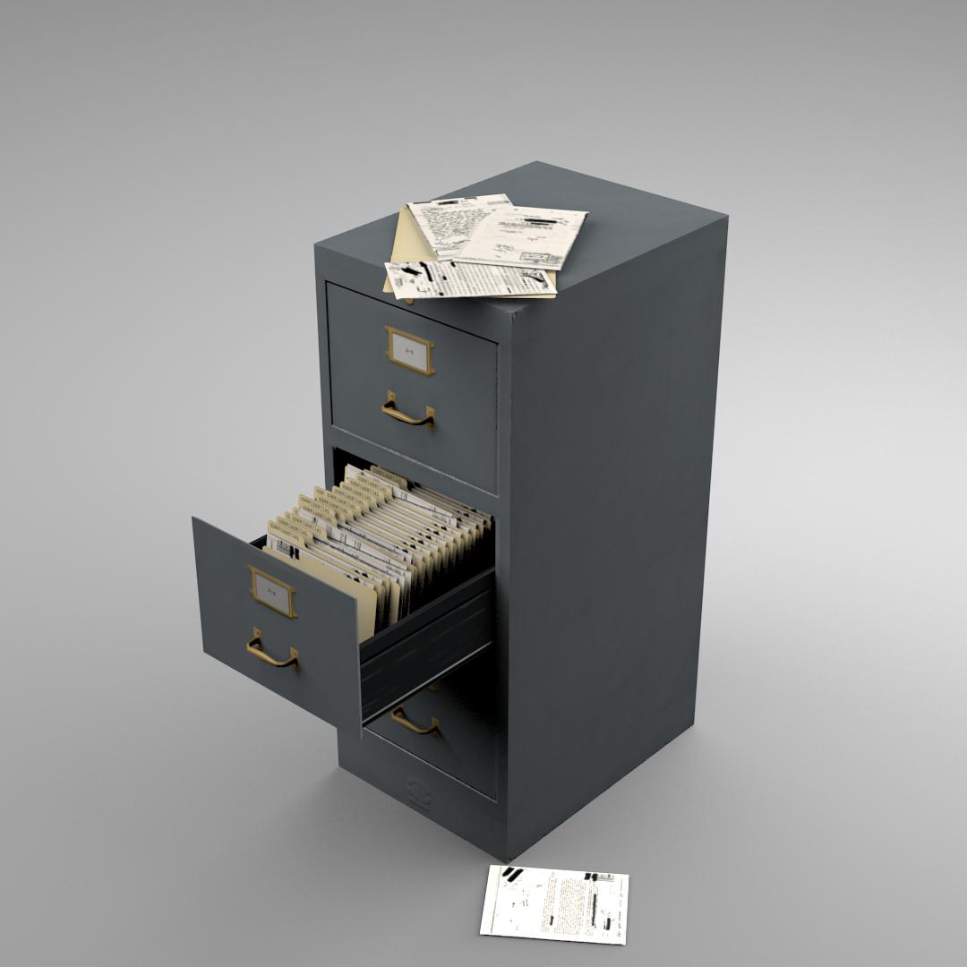 File Cabinet Metal File Cabinet Opengameartorg