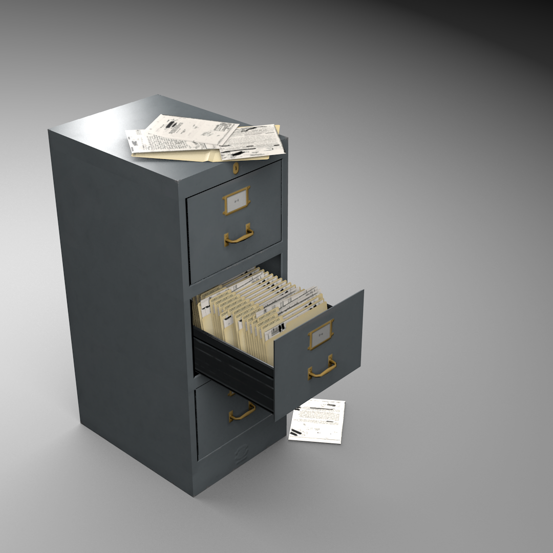 preview a common threedrawer metal filing cabinet