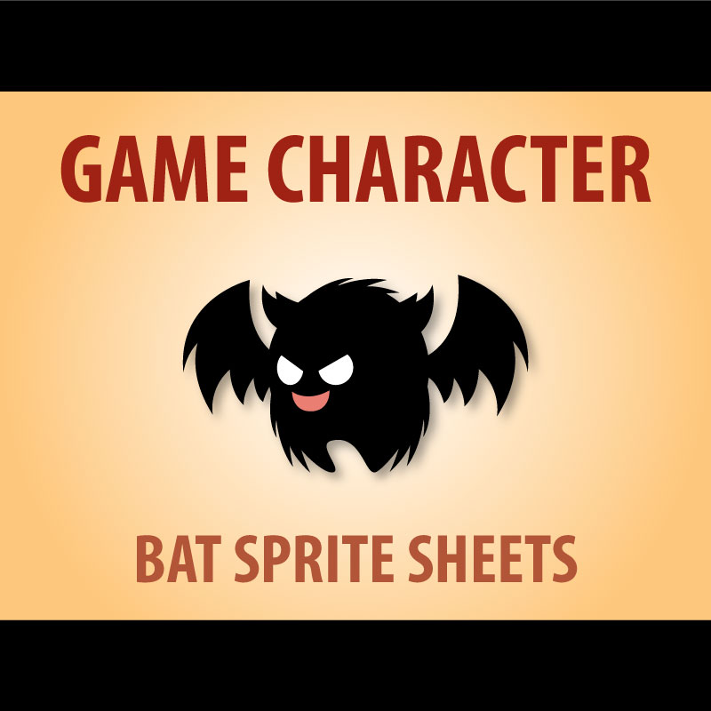 fluffy flappy bat game character