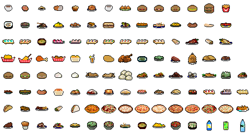 Food Items From Crosstown Smash Opengameart Org