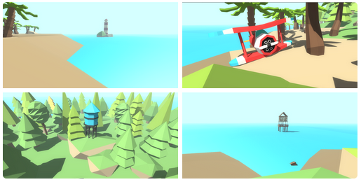 Low poly 3d island assets free dowlnoad   OpenGameArt org