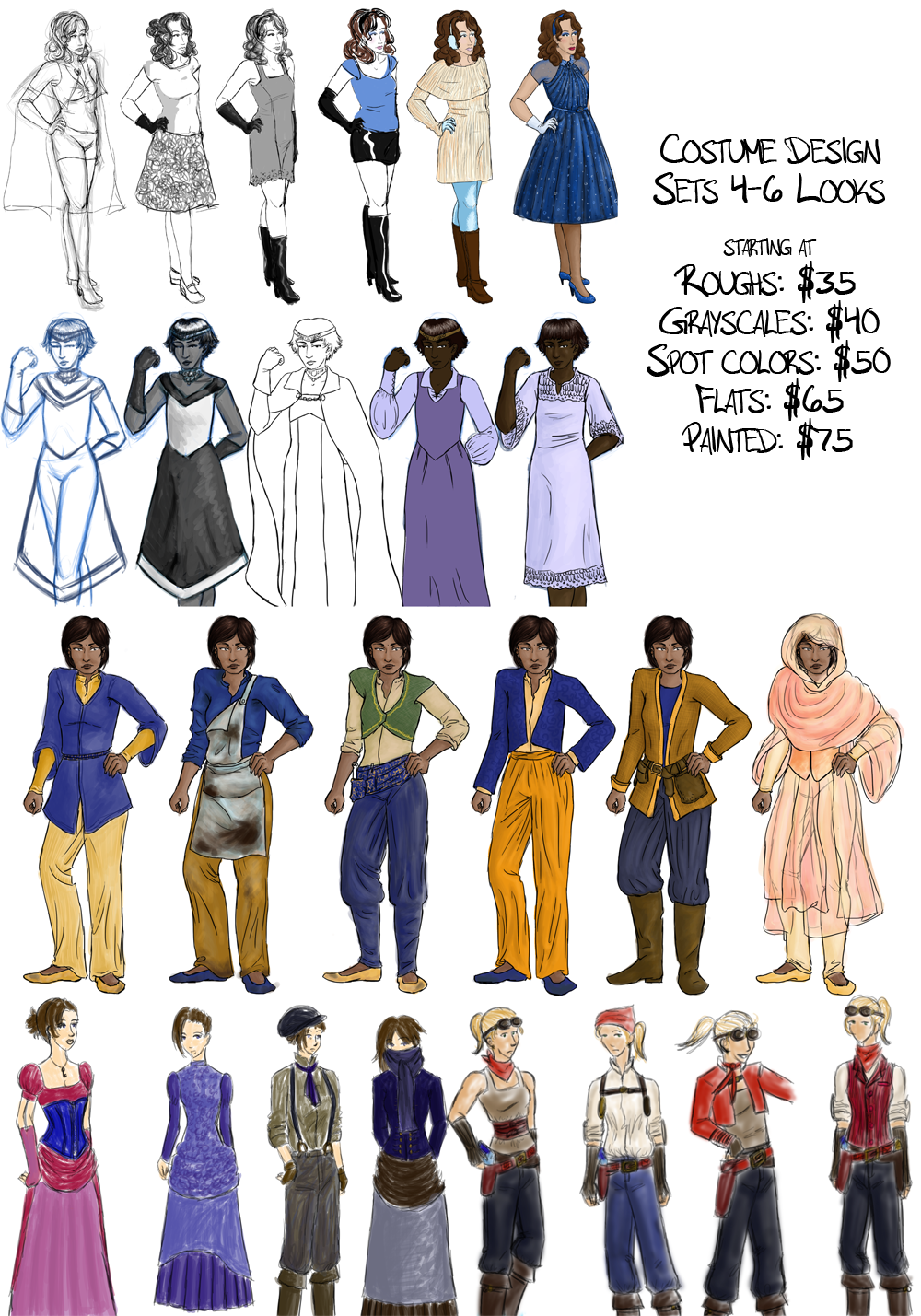 Character Design Price : Costume character design opengameart