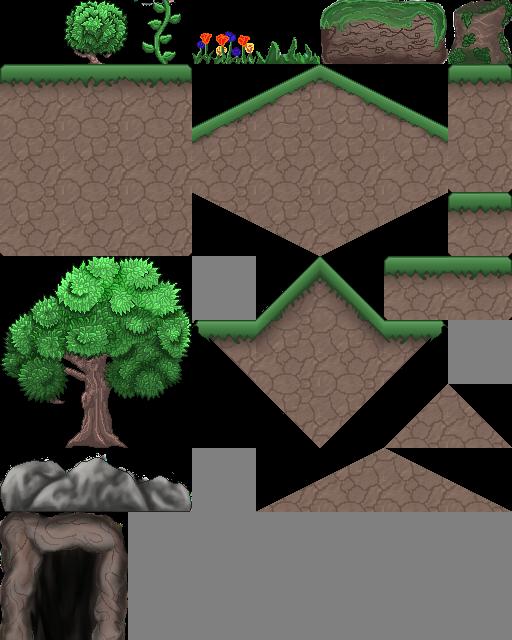 platformer grass tileset opengameartorg