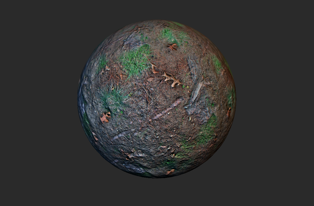 4K Seamless Ground Roots and Grass Texture with all Shader
