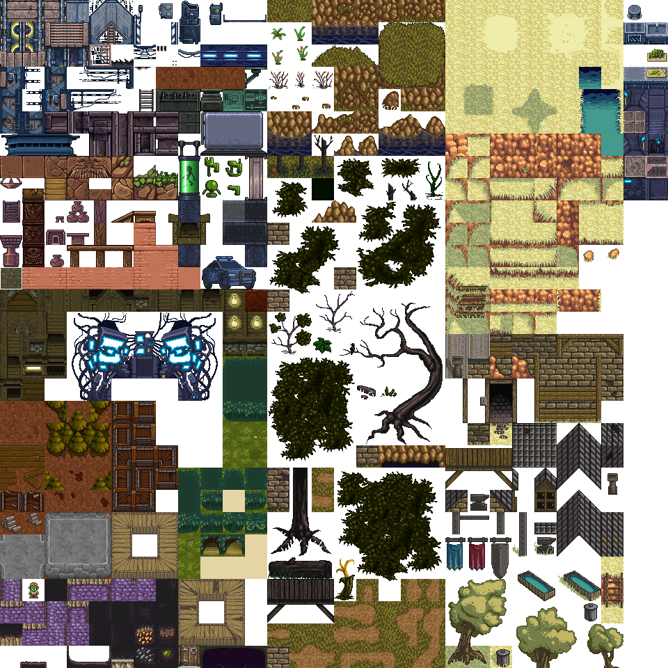 Lots Of Free 2d Tiles And Sprites By Hyptosis