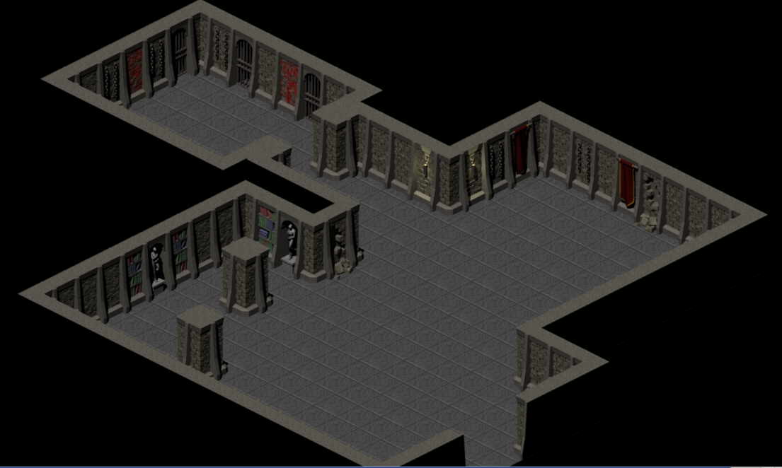 Classic dungeon walls for Room design 3d games