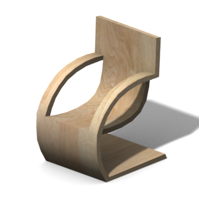 Preview · Preview. A Simple Minimalist Wood Chair.