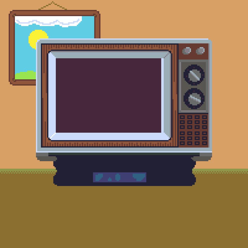 Pixel Art TV Sprite (CC0)
