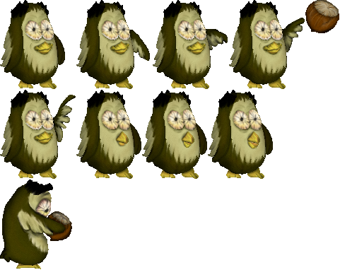 Animated owl with its lucky hazelnut opengameart preview voltagebd Choice Image