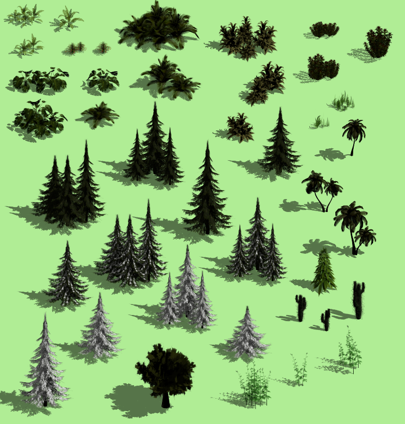 Free Isometric Plants Pack Opengameart Org