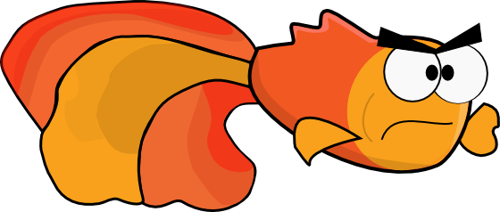 Simple cartoon goldfish