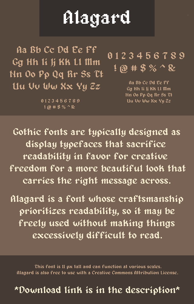 Pixel fonts by Pix3M | OpenGameArt org