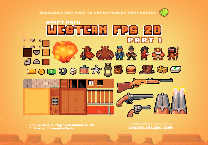 Superpowers assets various 2d | OpenGameArt org