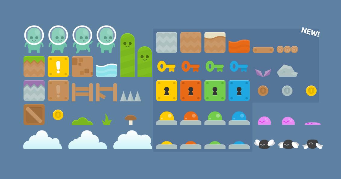 Platformer tiles | OpenGameArt org