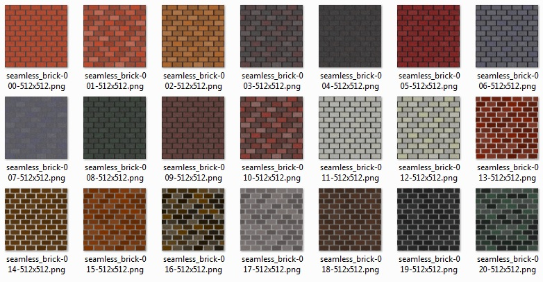 Preview A Simple Set Of Seamless 512x512 Brick Textures