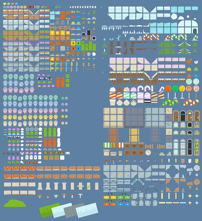 platformer art complete pack often updated opengameart org