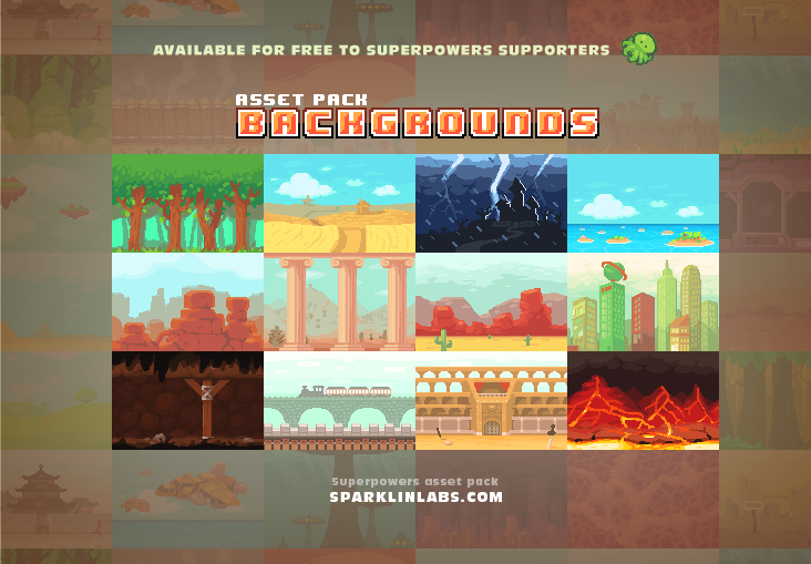 Superpowers assets background elements | OpenGameArt org