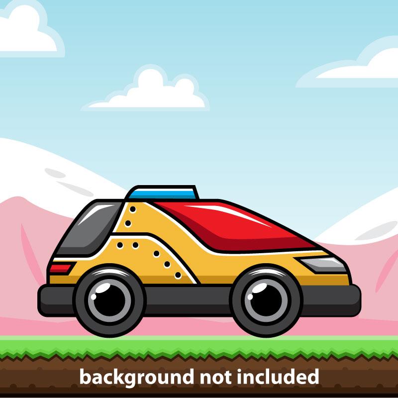 Racing Car Game Character