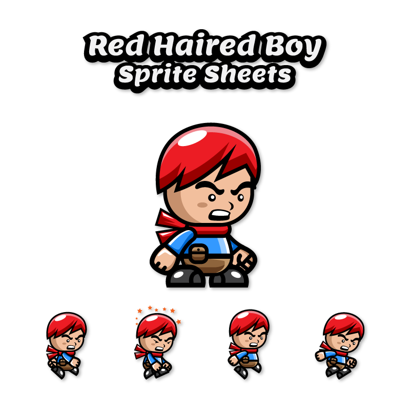 Red Haired Run And Jump Sprite Sheets Opengameart Org