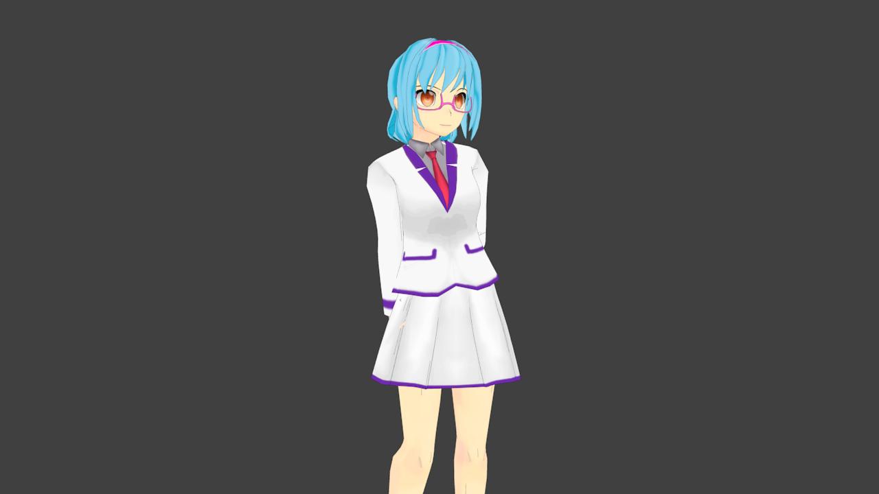 Anime School Girl With Blazer  Opengameartorg-7587