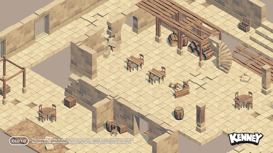 Isometric Dungeon Tiles 60 Opengameart Org