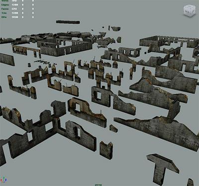 Destroyed walls 3d models for 3d models torrent