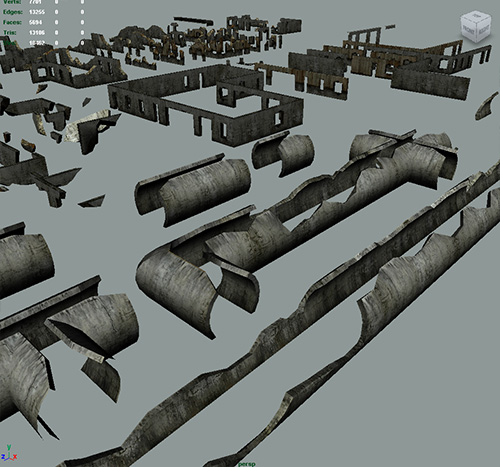 Destroyed walls 3d models 3d model sites
