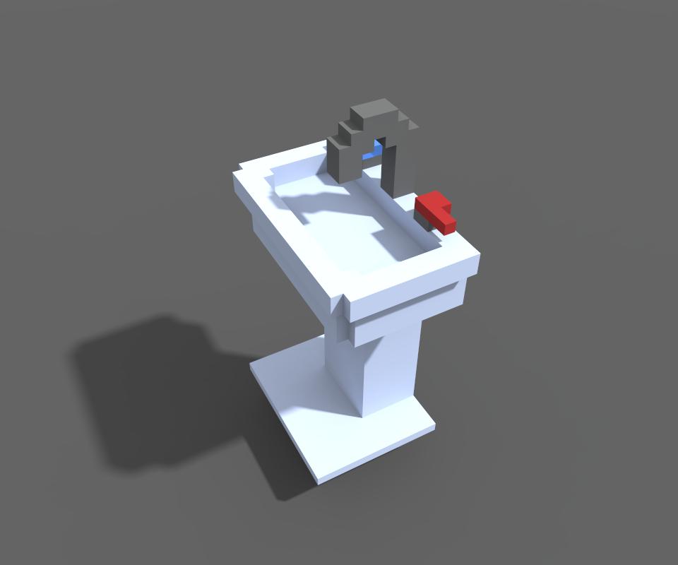 Modular Bathroom Voxel Art | OpenGameArt org