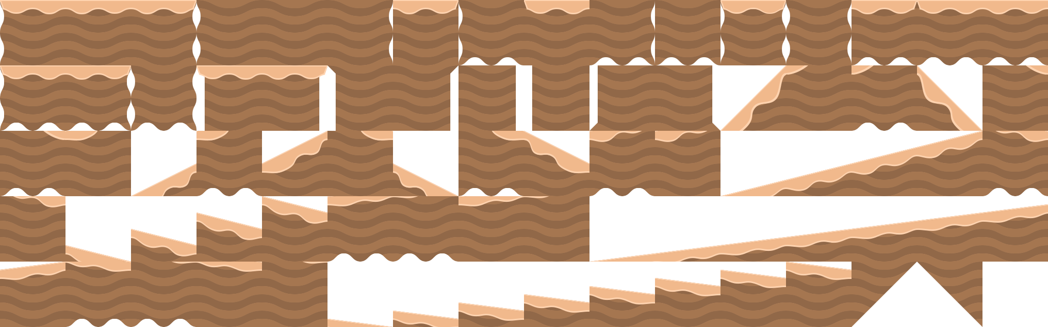 Desert Platformer Tiles With Slopes Opengameart Org