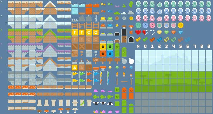 platformer art pixel edition opengameart org