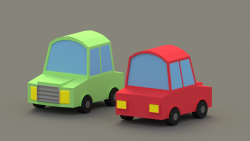 Low Poly 3D Cars