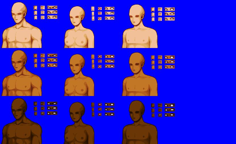 Template Portait Half Body Opengameart Org