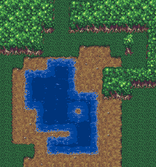 16x16 Tileset With Water Dirt Amp Forest Opengameart Org