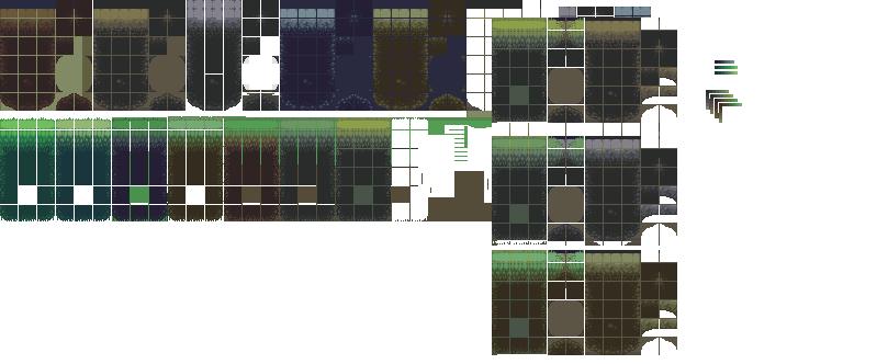 Platformer Basic Tileset Grass And Rock Opengameart Org