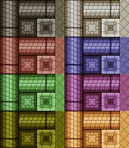 Two Dungeon Wall Tilesets Opengameart Org