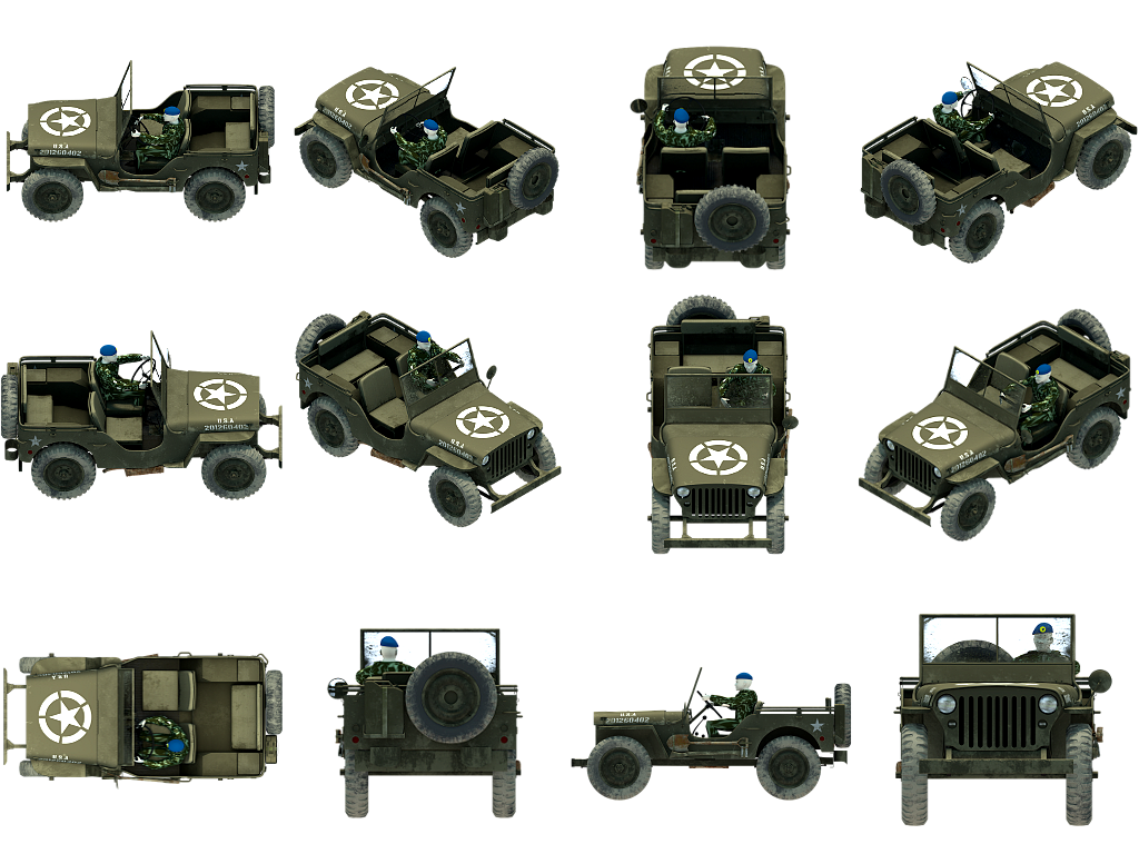Military Jeep Opengameart Org