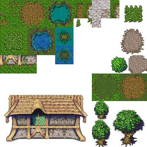 2d Lost Garden Tileset Transition To Jetrel S Wood Tileset