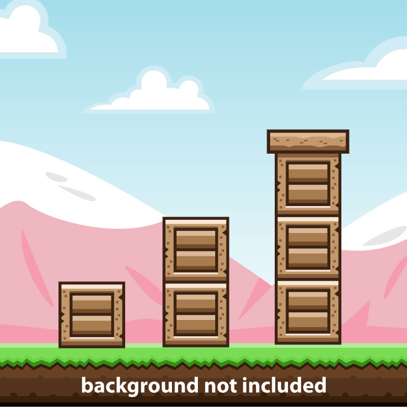 Wooden Brick Tile Game Obstacle Opengameart Org