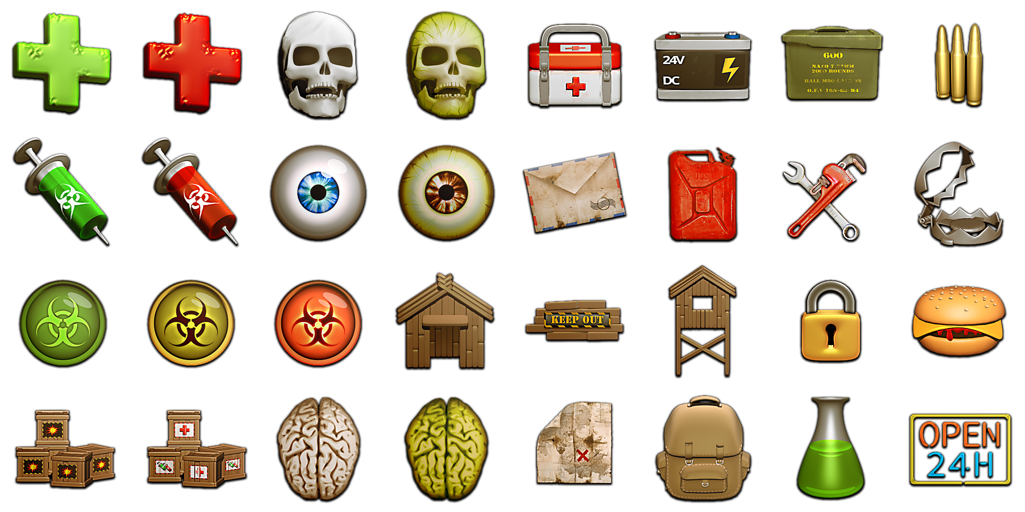 Zombie Ui Pack Opengameart Org